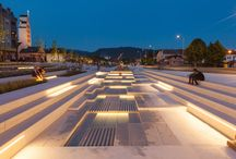 Franjo Tuđman Square Zaprešić /  Telektra designed and delivered the lighting for Franjo Tuđman Square in Zaprešić.