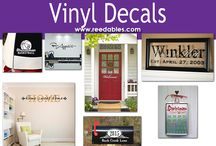 Vinyl Decals / Contact us about making a custom vinyl decal for you. info@reedables.com