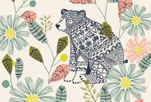 folk inspired illustration and design