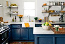 Kitchen Cabinets With Color / A brave soul showed us the power of going bold, step out of your comfort zone, and test the colors of the rainbow in your kitchen!  / by Cornerstone Builders