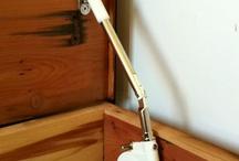 cedar chest and kitchen handles