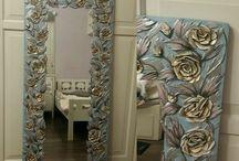 Aynalar panosu bahider.