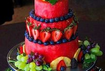 Cakes made from fruit