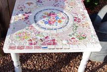 Mosaics / Everything I love using china pieces