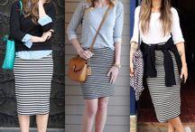 Faldas de rayas