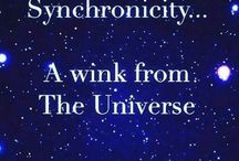 Synchronicity: a wink from the Universe and coincidences. Some of the most important tools for spiritual growth. / The Universe is always speaking to us ~ Sending us little messages ~ Causing coincidences and serendipities, reminding us to stop ~ To look around ~ To believe in something else ~ Something more ༺♡༻