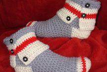 Crochet Monkey Socks Slipper Boots