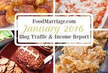 Food Marriage Blog Traffic & Income Reports / Making money with a food blog! Pins that will link to my monthly Food Blog Traffic & Income Reports!