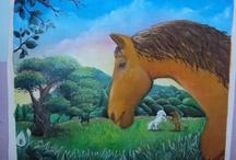 un poco de mis pinturas / pinturas al oleo, yeso pastel seco y acuarelas / by Ramon Arrazabal
