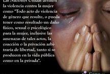 No a la violencia contra la mujer / No a la violencia contra la mujer