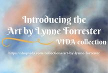 Art by Lynne Forrester - Vida Collection / Vida is a socially conscious company that supports artists make wearable art from their paintings. I'm delighted to share my cloudscapes on these stunning items.