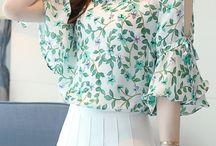 open sleeve blouse