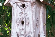 Birdhouses with Copper Roofs / Birdhouses with Copper Roofs