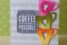 Coffee Themed Cards & Crafts / Inspiration for creating coffee themed cards & crafts!