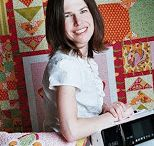 Amanda Murphy / Amanda Murphy is an up and coming quilting star - we love her work. One of the hottest new Modern Quilters - a quilt and fabric designer, author and sewing enthusiast !! I had the pleasure of meeting her at Houston Quilt Market and her energy was infectious.  She is also a Bernina Enthusiast !