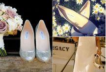 Wedding dresses, bouquets, shoes & hair