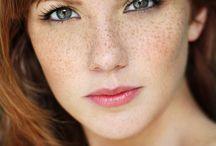 Freckled girls.