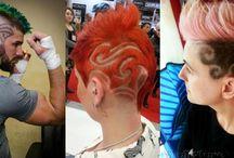 Tribal Designs on Hair