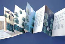 Prodotti / Libretti d'artista alla Leporello assemblati a mano in edizione numerata, stampa digitale su carta pesante fine art opaca.