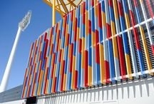Vertical Feature Louvres / Design scope for architectural feature fins on commercial building exteriors.