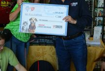 Tractor Supply Co. Check Presentation 9/20/14 / (Photos courtesy of Lolly Busey and Kerry Hilliard)  It was a fun day - Opie, Duke, Calvin, and Hairy Toes made an appearance at Tractor Supply Co. in Orange, VA for the culmination of their Pet Apprecation Week and to present the 2nd place prize of $5,000 for the Nationwide TSC Rescue My Rescue Photo Contest. Thank you to TSC and thanks to all of our friends who helped us win this prize by voting and sharing! You rock!