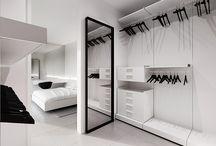 Garderobeskab / walk-in / Ideer til indretning af garderobeskabet