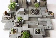cementové polyuretanove hmoty sukulenty kvetináče
