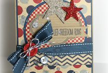 Cards - Fourth of July / Ideas for handmade Fourth of July cards.