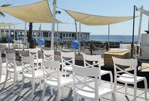 Complementi d'arredo / Ampio Showroom presso la nostra sede con tavoli e sedie Nardi, Pedrali, Papatya.