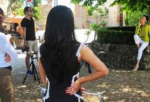 Backstage- Vineyard-Tuscany / Backstage photoshoot in worlds most exclusive vineyard, the Brunello di Montalcino  in Tuscany, Italy. And here happens to be my fiancè's family vineyard.  Thanks to my team, Hair, makeup, video, camera, stylist for nothing would be possible without them!  Cheers!