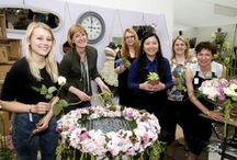 Gold award winning Floristry & Harrogate Spring Flower Show / Our award winning part-time Floristry students with their amazing displays & examples of work.