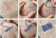 rammendo a punto maglia