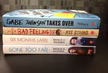 Book spine poetry / Poems made in PHS library.