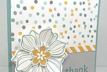 DSP Cards / Inspiration for layouts that feature Designer Series Paper. This board may include patterned paper that is NOT Stampin' Up!