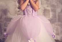 Girls princess style gowns