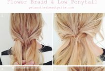 Hair (from braid to pony)