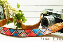 Lusikka colorful ethnic camera strap / colorful ethnic embroidery camera strap