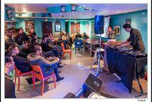 """Festival GéNéRiQ 2016 > Samedi 27 février - Ala.Ni + Here We Go Magic + Abd Al Malik + ... / Festival GéNéRiQ 2016 > Samedi 27 février - Conférence """"Rock Billy Boogie"""" + Ala.Ni + Here We Go Magic + Abd Al Malik + Flex Fab + Green Shop + Kenta I Tambu + Bloodshot Bill - Crédit Photo : Association Pix'Scène / E+N / Mesh Photography"""