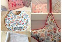 Créations en liberty / Couture en tissu Liberty. Décoration et accessoires pour bébés et enfants.