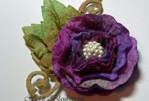 Flowers:fabric-paper-ribbon / by Mary Rigsby