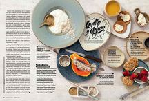 trendspotting: overhead photography / mixed with handmade type in food editorials and a big trend on instagram - is there anything that can't be improved by being shot from above?!