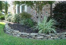 Yard - retaining wall