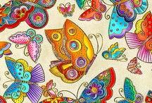 libelulas y mariposas