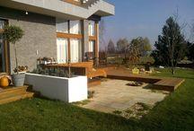 Aranżacje tarasów / przykłady ciekawych aranżacji na tarasach i balkonach: rośliny, meble, wyposażenie, oświetlenie