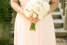 Peach Bridesmaid Dresses / A collection of pretty peach bridesmaid dress ideas for your maids