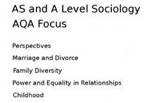 Sociology A level