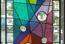 Leaded Glass / Wonderful examples of stained glass found or photographed