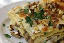 porcini,zucca lasagne