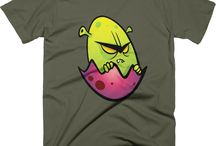 Men's designer tshirts / One of a kind designer tshirts by Squeaky Chimp.