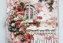Canvas scrapbooking
